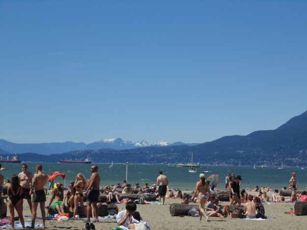 beach plus snowy mountains