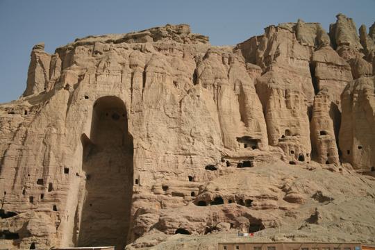 Afghanistan, Bamiyan, big Buddha niche - 540