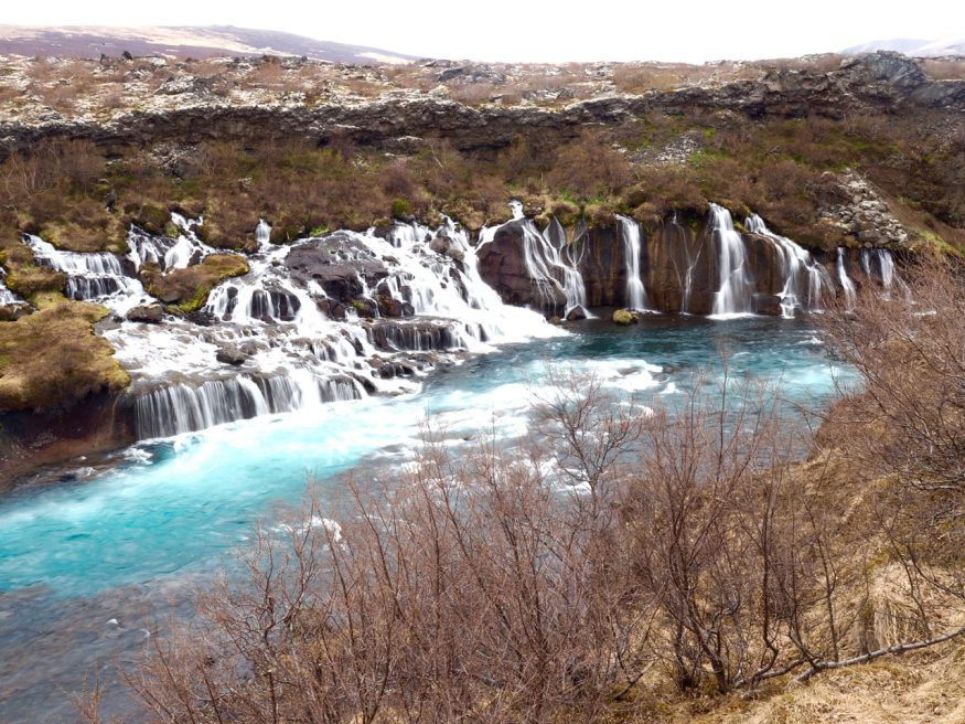 Waterfalls in Iceland - Hraunfossar, Snaefellsness Peninsula - The Best Day Trips from Reykjavik